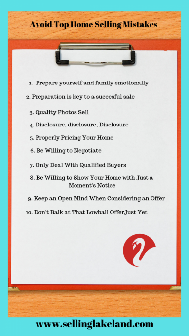 Top 10 Home Selling Mistakes to Avoid